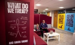 our reception area showcasing what we can treat