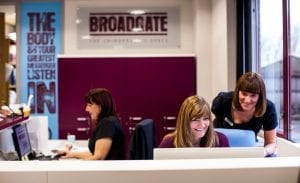Our reception staff at Broadgate chiropractic space in Horsfoth, Leeds